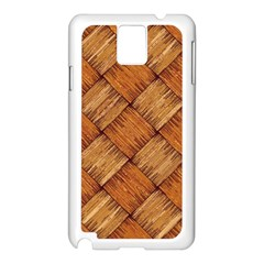 Vector Square Texture Pattern Samsung Galaxy Note 3 N9005 Case (white)