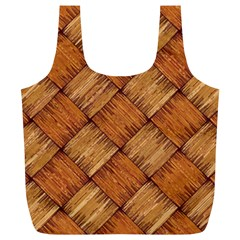 Vector Square Texture Pattern Full Print Recycle Bags (L)