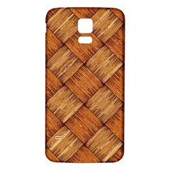 Vector Square Texture Pattern Samsung Galaxy S5 Back Case (White)
