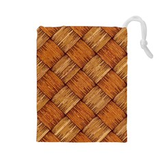 Vector Square Texture Pattern Drawstring Pouches (large)