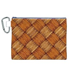Vector Square Texture Pattern Canvas Cosmetic Bag (XL)