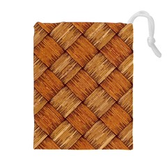 Vector Square Texture Pattern Drawstring Pouches (Extra Large)