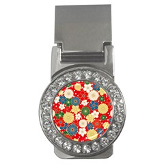 Season Flower Rose Sunflower Red Green Blue Money Clips (CZ)