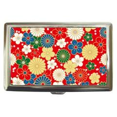 Season Flower Rose Sunflower Red Green Blue Cigarette Money Cases
