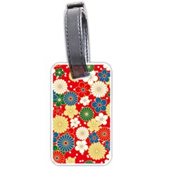 Season Flower Rose Sunflower Red Green Blue Luggage Tags (one Side)