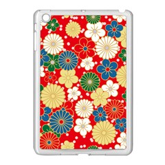 Season Flower Rose Sunflower Red Green Blue Apple Ipad Mini Case (white)