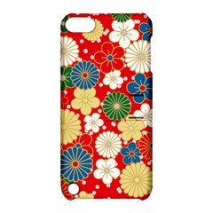 Season Flower Rose Sunflower Red Green Blue Apple iPod Touch 5 Hardshell Case with Stand