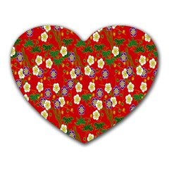 Red Flower Floral Tree Leaf Red Purple Green Gold Heart Mousepads
