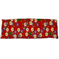 Red Flower Floral Tree Leaf Red Purple Green Gold Body Pillow Case Dakimakura (two Sides)