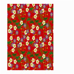 Red Flower Floral Tree Leaf Red Purple Green Gold Small Garden Flag (two Sides)