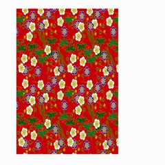 Red Flower Floral Tree Leaf Red Purple Green Gold Large Garden Flag (Two Sides)