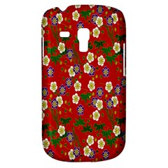 Red Flower Floral Tree Leaf Red Purple Green Gold Galaxy S3 Mini