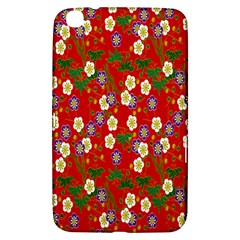 Red Flower Floral Tree Leaf Red Purple Green Gold Samsung Galaxy Tab 3 (8 ) T3100 Hardshell Case