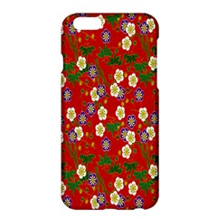 Red Flower Floral Tree Leaf Red Purple Green Gold Apple Iphone 6 Plus/6s Plus Hardshell Case