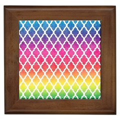 Colorful Rainbow Moroccan Pattern Framed Tiles