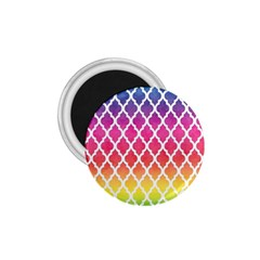 Colorful Rainbow Moroccan Pattern 1.75  Magnets