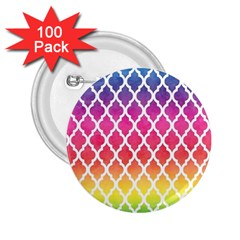 Colorful Rainbow Moroccan Pattern 2.25  Buttons (100 pack)