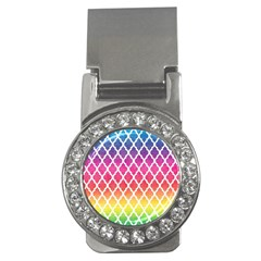 Colorful Rainbow Moroccan Pattern Money Clips (CZ)