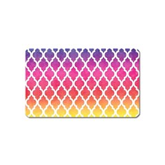 Colorful Rainbow Moroccan Pattern Magnet (Name Card)