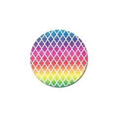 Colorful Rainbow Moroccan Pattern Golf Ball Marker (10 Pack)