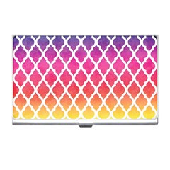 Colorful Rainbow Moroccan Pattern Business Card Holders