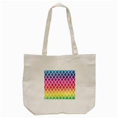 Colorful Rainbow Moroccan Pattern Tote Bag (cream)