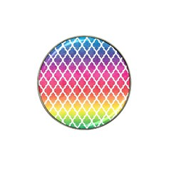 Colorful Rainbow Moroccan Pattern Hat Clip Ball Marker (10 Pack)