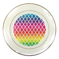 Colorful Rainbow Moroccan Pattern Porcelain Plates