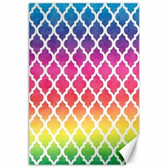 Colorful Rainbow Moroccan Pattern Canvas 12  X 18
