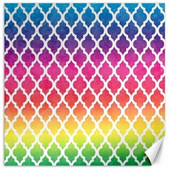 Colorful Rainbow Moroccan Pattern Canvas 16  x 16