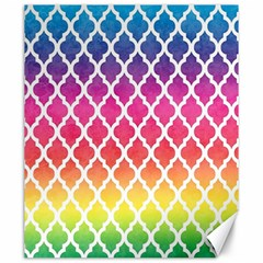 Colorful Rainbow Moroccan Pattern Canvas 20  X 24