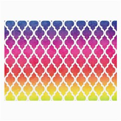 Colorful Rainbow Moroccan Pattern Large Glasses Cloth (2-Side)