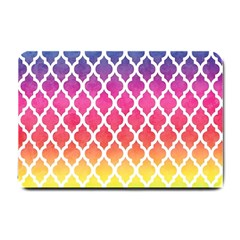 Colorful Rainbow Moroccan Pattern Small Doormat