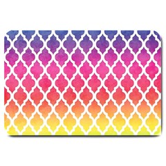 Colorful Rainbow Moroccan Pattern Large Doormat