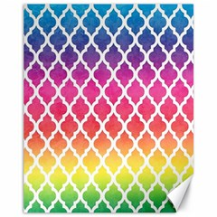 Colorful Rainbow Moroccan Pattern Canvas 11  X 14