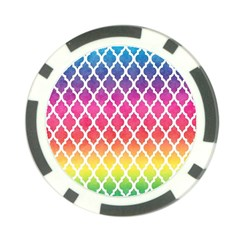Colorful Rainbow Moroccan Pattern Poker Chip Card Guard