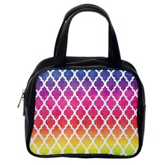 Colorful Rainbow Moroccan Pattern Classic Handbags (One Side)