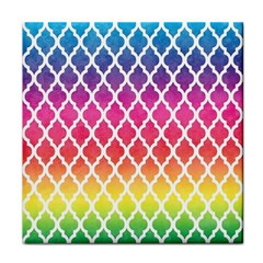 Colorful Rainbow Moroccan Pattern Face Towel