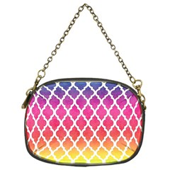 Colorful Rainbow Moroccan Pattern Chain Purses (one Side)