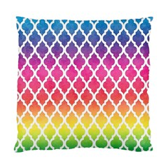Colorful Rainbow Moroccan Pattern Standard Cushion Case (two Sides)