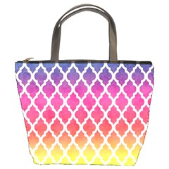 Colorful Rainbow Moroccan Pattern Bucket Bags