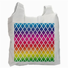 Colorful Rainbow Moroccan Pattern Recycle Bag (two Side)