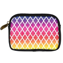 Colorful Rainbow Moroccan Pattern Digital Camera Cases