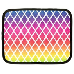Colorful Rainbow Moroccan Pattern Netbook Case (xxl)