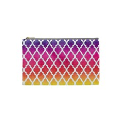 Colorful Rainbow Moroccan Pattern Cosmetic Bag (small)