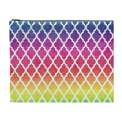 Colorful Rainbow Moroccan Pattern Cosmetic Bag (xl)
