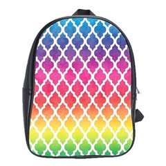 Colorful Rainbow Moroccan Pattern School Bags(large)