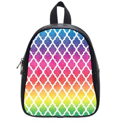 Colorful Rainbow Moroccan Pattern School Bags (small)
