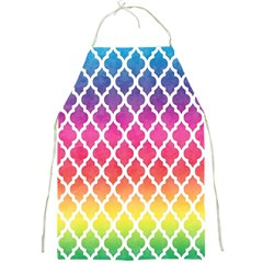 Colorful Rainbow Moroccan Pattern Full Print Aprons