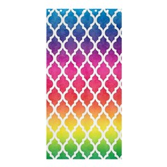 Colorful Rainbow Moroccan Pattern Shower Curtain 36  x 72  (Stall)